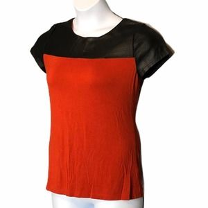 Cato small faux leather tee